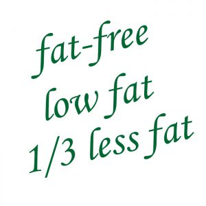 Image of low-fat, fat-free text